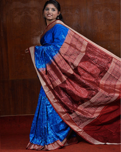 Sonepur Copper Sulphate Silk Saree