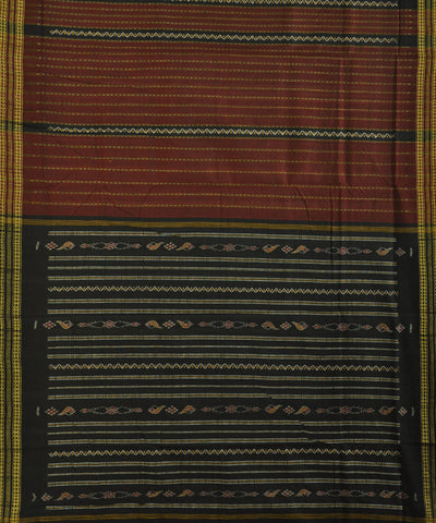Bargarh Maroon Cotton Saree