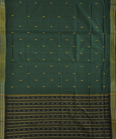 Bargarh Green Cotton Saree
