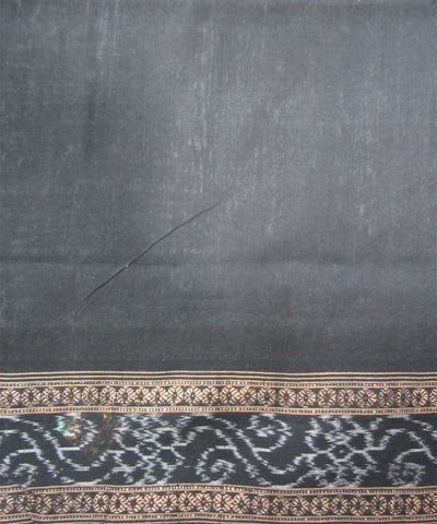 Traditional Grey and Black Cotton Saree