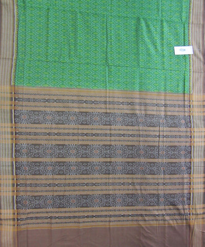 Traditional Green and Brown Cotton Saree