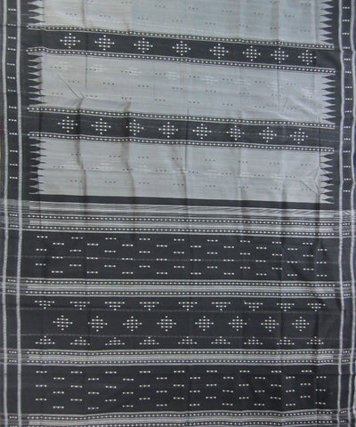 Traditional Black and Grey Bappta Saree
