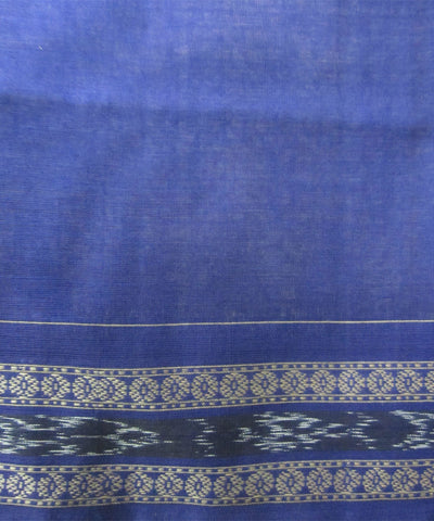 Traditional Grey and Blue Cotton Saree