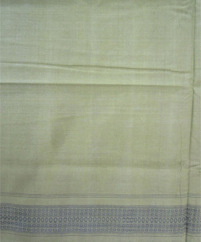 Bargarh Marron and Green Cotton Saree