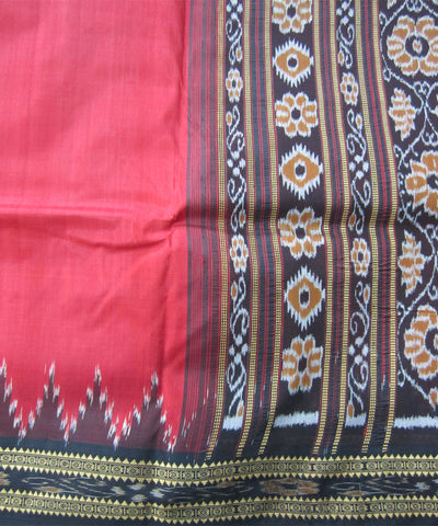Nuapatna Red and Black Khandua Silk Saree