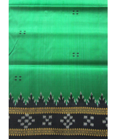 Nuapatna Green and Black Khandua Silk Saree