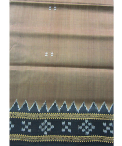 Nuapatna Brown and Black Khandua Silk Saree