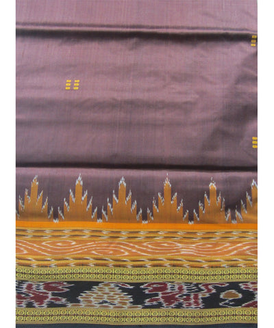 Nuapatna Brown Khandua Silk Saree