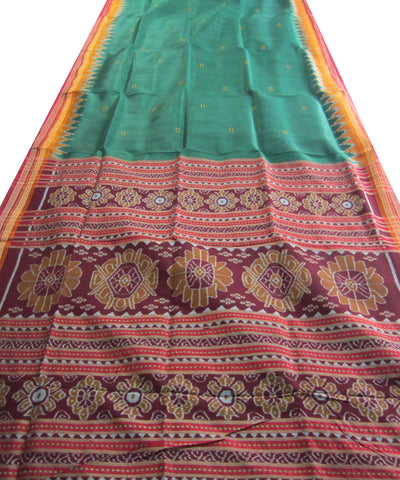 Nuapatna Green Khandua Silk Saree