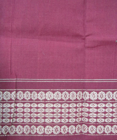 Traditional Carmel and White Cotton Saree