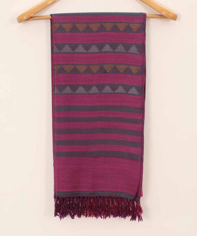 Magenta and punch pink Handwoven Kullu Woolen