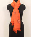Orange Handwoven Kullu Woolen stole