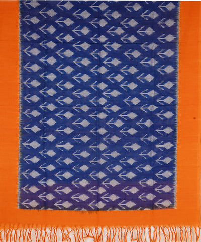 Handloom Pochampally Ikat Blue Cotton Dupatta