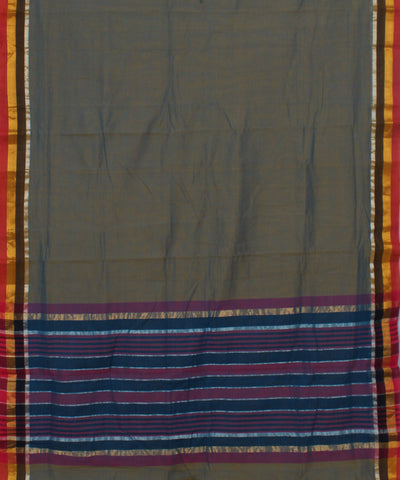 Blue Yellow Madhavaram Cotton Handloom Saree