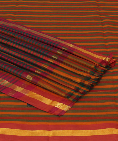 Multicolor Handwoven Madhavaram Cotton Saree