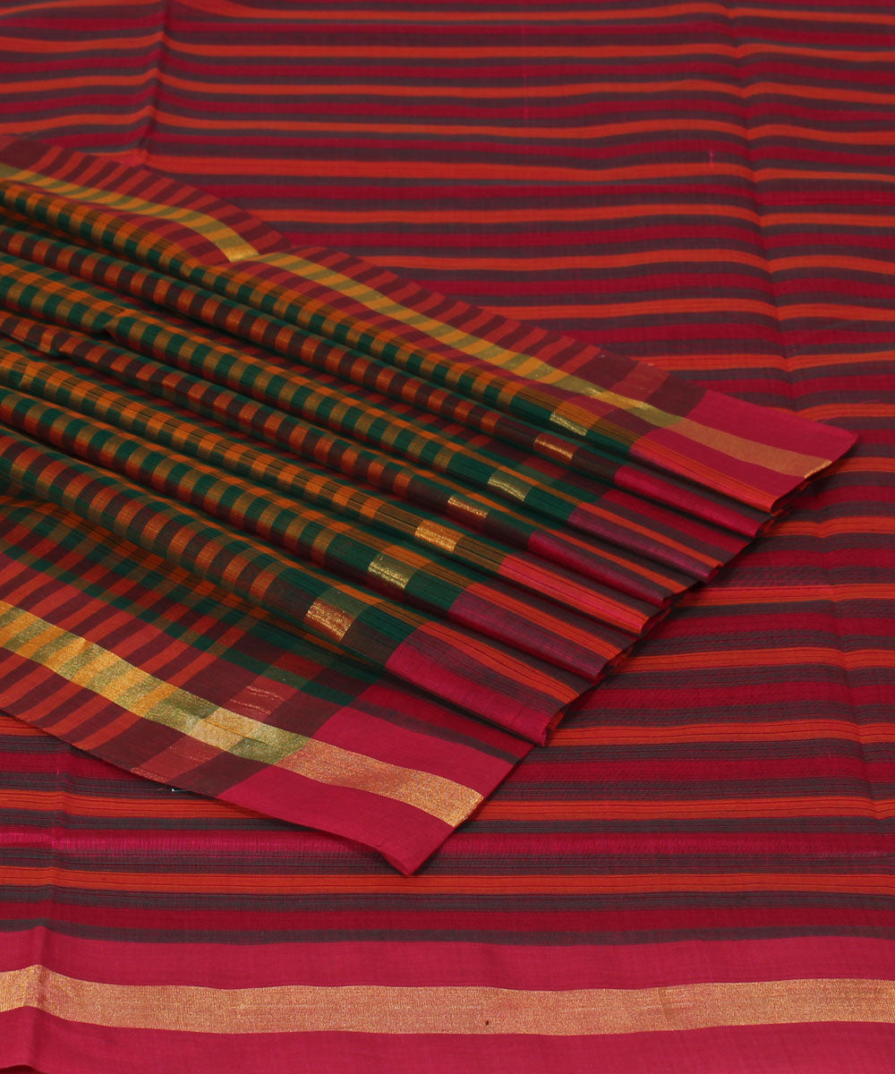 Madhavaram Multicolor Handwoven Cotton Saree