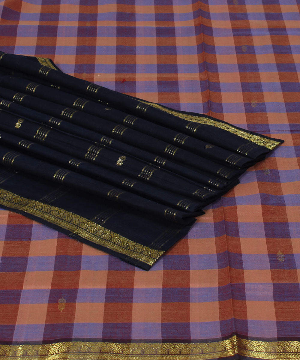 Checks Polavaram Handwoven Cotton Saree