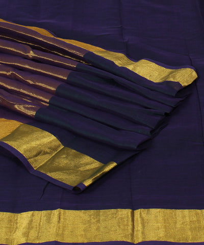 Venkatagiri Dark Violet Handloom Cotton Saree