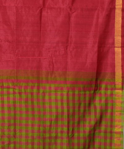 Red Checks Handloom Mangalagiri Sico Saree