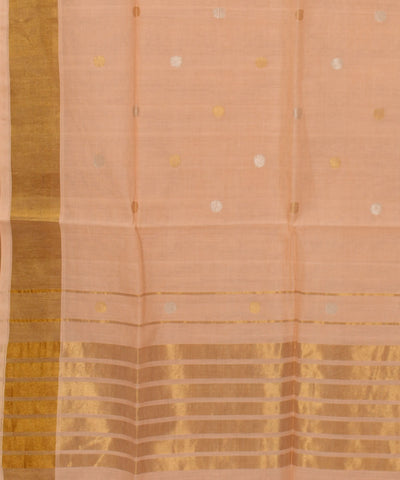 Venkatagiri Light Peach Handloom Cotton Saree