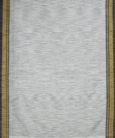 White and Grey Handloom Ilkal Saree