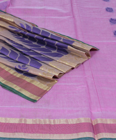 Handloom Peach Chirala Cotton Silk Saree