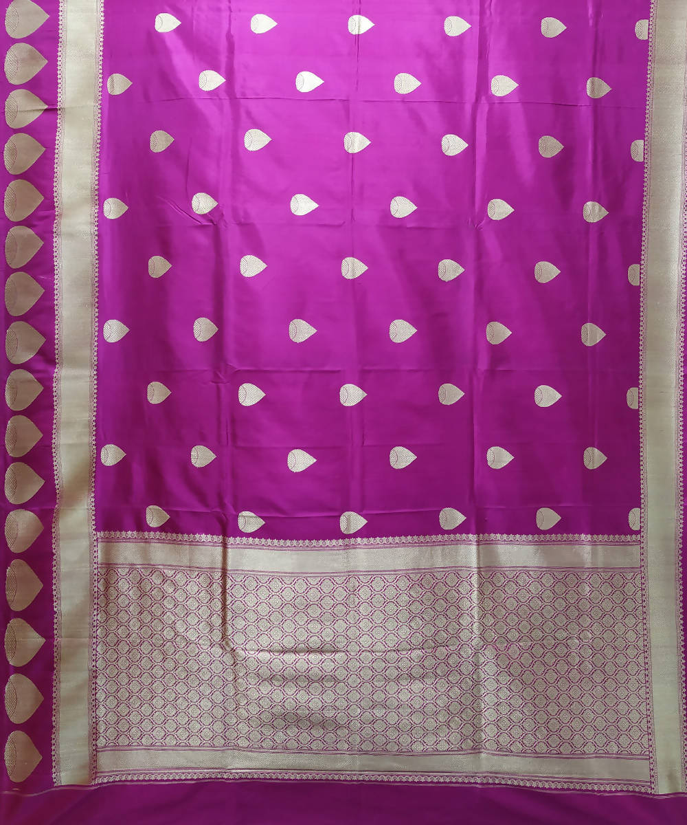 Banarasi Katan Silk Handwoven Purple Saree