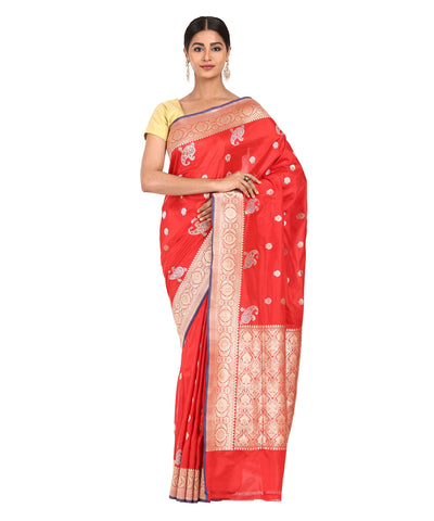 Red Handwoven Banarasi Kathan Silk Saree