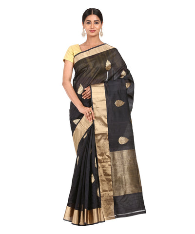 Black Handwoven Banarasi Saree