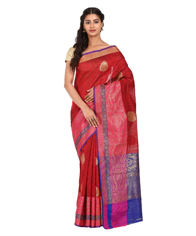 Multicolor Handwoven Banarasi Silk Saree