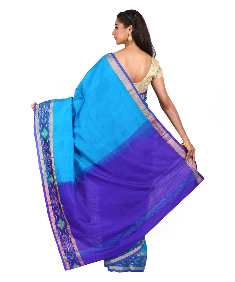 Sky Blue Handwoven Uppada Silk Saree