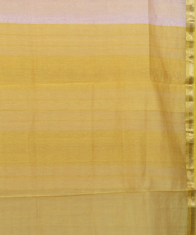 Maheshwari Handwoven Off White Sico Saree