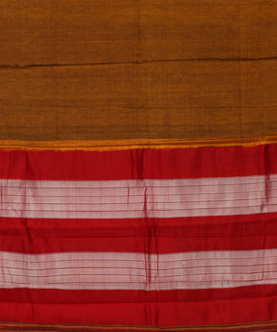 Handwoven Mustard Orange Ilkal Saree