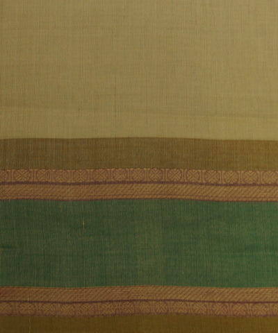 Cream Handloom Chettinadu Cotton Saree