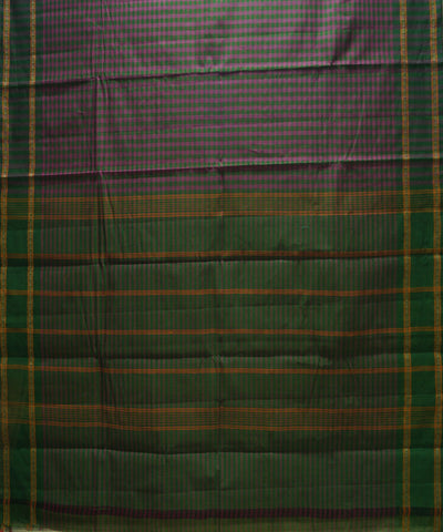 Green Checks Handloom Chettinadu Cotton Saree