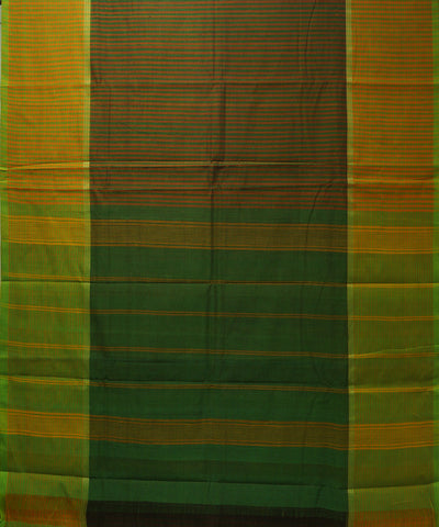 Green Stripe Handloom Chettinadu Cotton Saree
