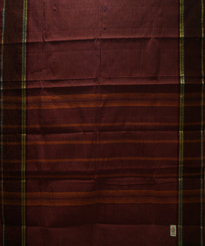 Maroon Handloom Chettinadu Cotton Saree