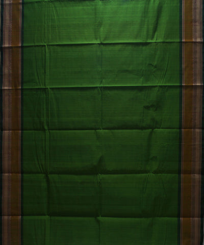 Loomworld Green Handwoven Chettinadu Cotton Saree