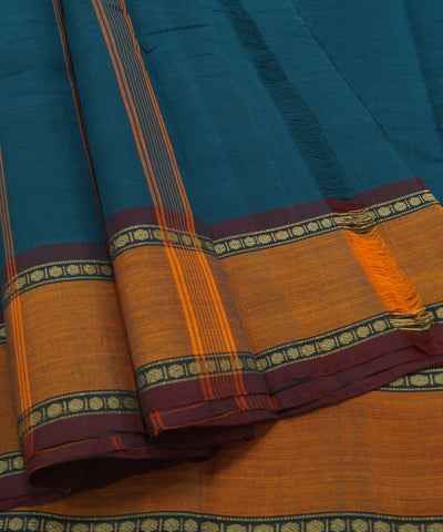 Blue Handloom Chettinadu Cotton Saree
