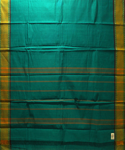 Cyan Blue Handloom Chettinadu Cotton Saree