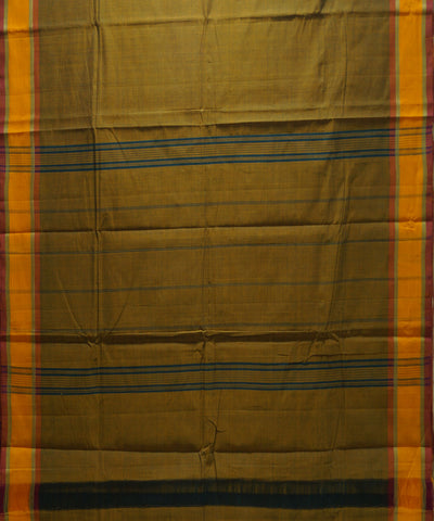 Mustard Handloom Chettinadu Cotton Saree