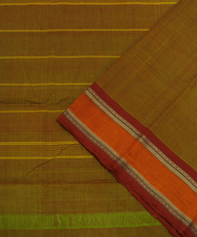 Loomworld Double Shaded Handwoven Chettinadu Cotton Saree