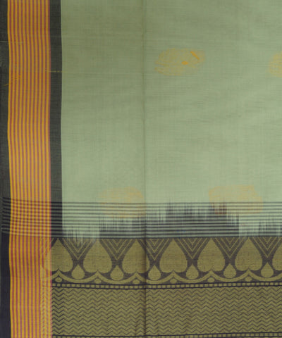 Loom World Grey Handwoven Coimbatore Cotton Saree