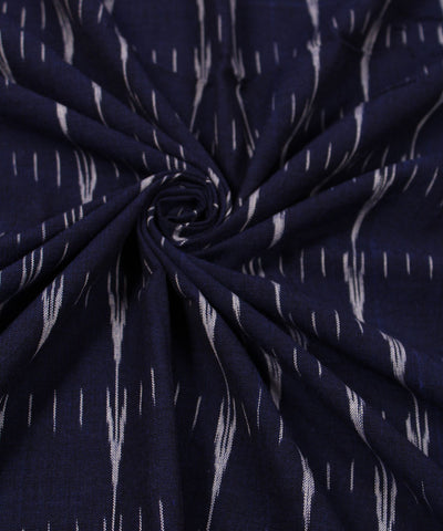 Handwoven Indigo Blue Ikat Cotton Fabric (GCCCOFBA008)