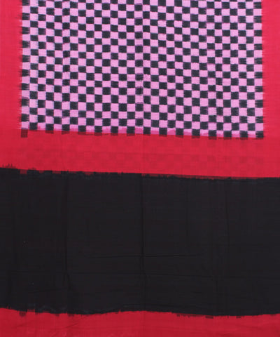 Checkered Handwoven Pochampally Cotton Saree