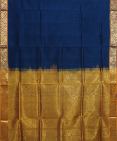 Royal Blue Handwoven Andhra Sico Saree