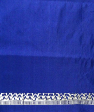 Bright Sky Blue Bomkai Handloom Silk Saree