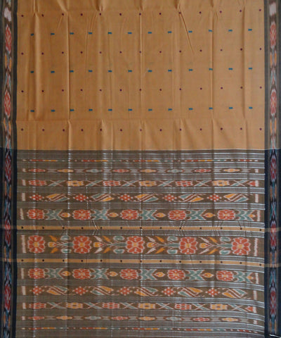 Bronze Handwoven Berhampuri Cotton Saree
