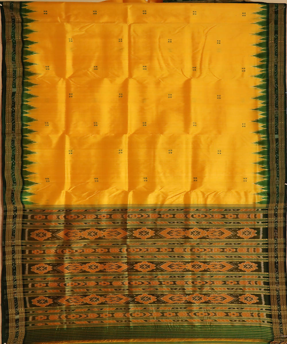 Yellow silk handloom khandua saree