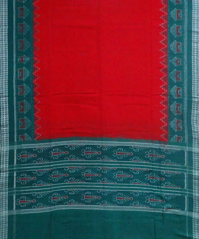 Green Sambalpuri cotton Handwoven Dress Material
